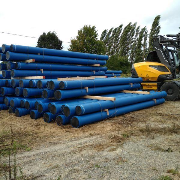1. Stockage tuyaux fonte